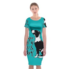 Dog person Classic Short Sleeve Midi Dress