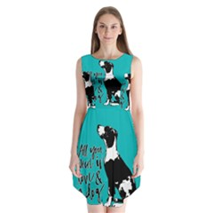 Dog person Sleeveless Chiffon Dress