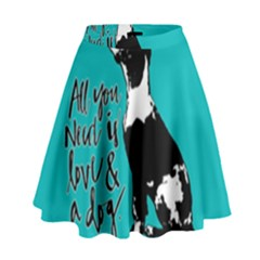 Dog person High Waist Skirt