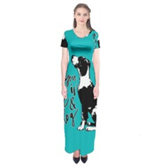 Dog person Short Sleeve Maxi Dress