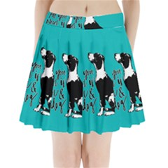 Dog person Pleated Mini Skirt