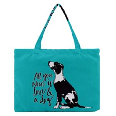 Dog person Medium Zipper Tote Bag