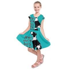 Dog person Kids  Short Sleeve Dress
