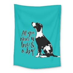 Dog person Medium Tapestry