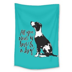 Dog person Large Tapestry