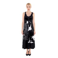 Dog person Sleeveless Maxi Dress