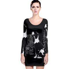 Dog person Long Sleeve Bodycon Dress