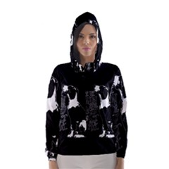 Dog person Hooded Wind Breaker (Women)