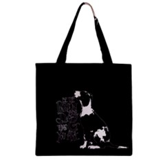 Dog person Zipper Grocery Tote Bag