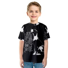 Dog person Kids  Sport Mesh Tee