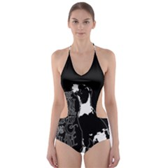 Dog person Cut-Out One Piece Swimsuit