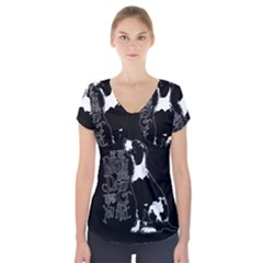 Dog person Short Sleeve Front Detail Top