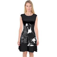 Dog person Capsleeve Midi Dress
