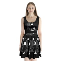 Dog person Split Back Mini Dress