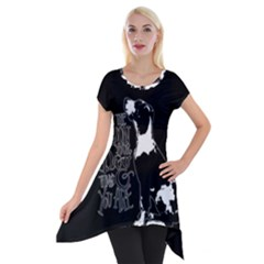 Dog person Short Sleeve Side Drop Tunic