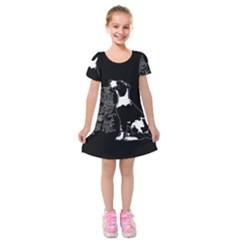 Dog person Kids  Short Sleeve Velvet Dress