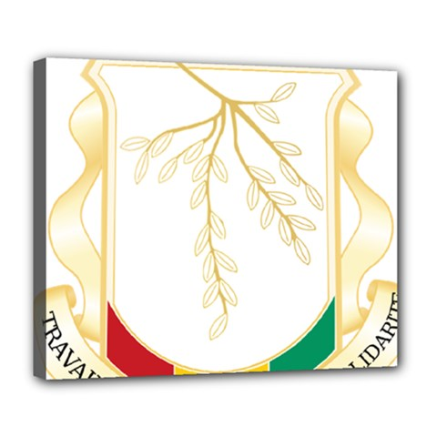 Coat of Arms of Republic of Guinea  Deluxe Canvas 24  x 20
