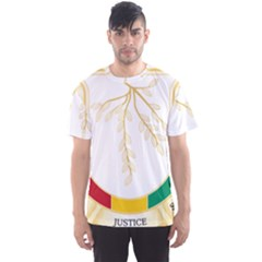 Coat of Arms of Republic of Guinea  Men s Sport Mesh Tee
