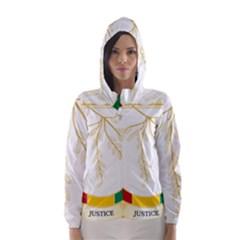 Coat of Arms of Republic of Guinea  Hooded Wind Breaker (Women)