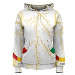 Coat of Arms of Republic of Guinea  Women s Pullover Hoodie
