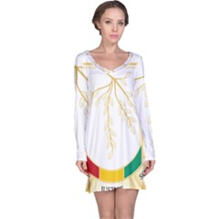 Coat of Arms of Republic of Guinea  Long Sleeve Nightdress