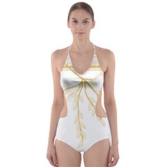 Coat of Arms of Republic of Guinea  Cut-Out One Piece Swimsuit