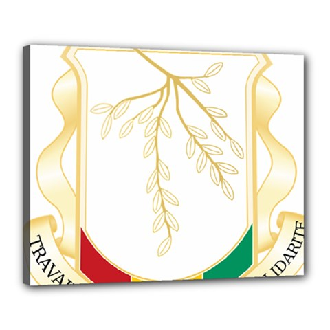 Coat of Arms of Republic of Guinea  Canvas 20  x 16