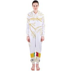 Coat of Arms of Republic of Guinea  Hooded Jumpsuit (Ladies)