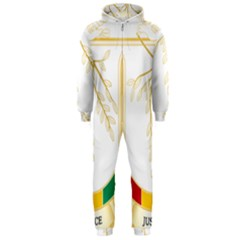 Coat of Arms of Republic of Guinea  Hooded Jumpsuit (Men)