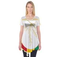 Coat Of Arms Of Republic Of Guinea  Short Sleeve Tunic
