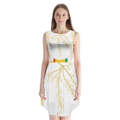 Coat of Arms of Republic of Guinea  Sleeveless Chiffon Dress