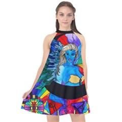 Watcher   Halter Neckline Chiffon Dress