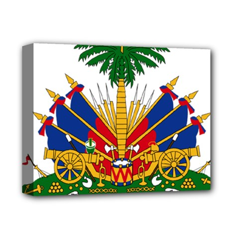 Coat of Arms of Haiti Deluxe Canvas 14  x 11