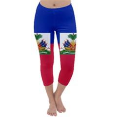 Flag of Haiti  Capri Winter Leggings
