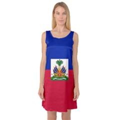 Flag of Haiti  Sleeveless Satin Nightdress