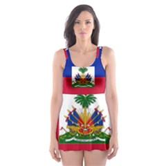 Flag Of Haiti  Skater Dress Swimsuit