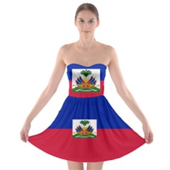Flag of Haiti  Strapless Bra Top Dress
