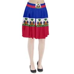 Flag of Haiti  Pleated Skirt