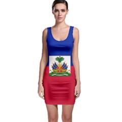 Flag of Haiti Sleeveless Bodycon Dress