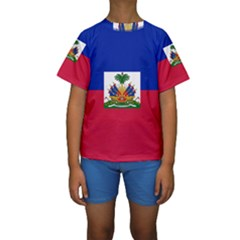 Flag of Haiti Kids  Short Sleeve Swimwear