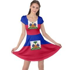 Flag of Haiti Cap Sleeve Dresses