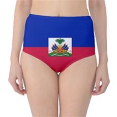 Flag of Haiti High-Waist Bikini Bottoms