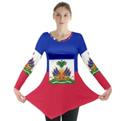 Flag of Haiti Long Sleeve Tunic