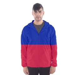 Civil Flag of Haiti (Without Coat of Arms) Hooded Wind Breaker (Men)
