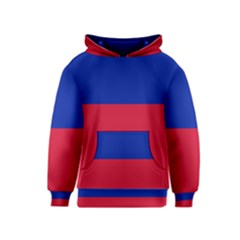 Civil Flag of Haiti (Without Coat of Arms) Kids  Pullover Hoodie