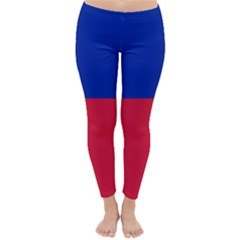 Civil Flag of Haiti (Without Coat of Arms) Classic Winter Leggings