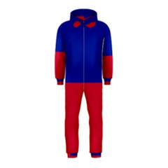 Civil Flag of Haiti (Without Coat of Arms) Hooded Jumpsuit (Kids)