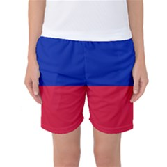 Civil Flag of Haiti (Without Coat of Arms) Women s Basketball Shorts