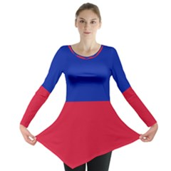 Civil Flag Of Haiti (without Coat Of Arms) Long Sleeve Tunic