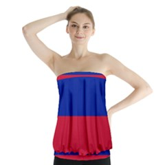 Civil Flag of Haiti (Without Coat of Arms) Strapless Top